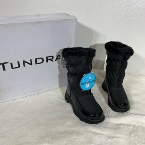 Tundra Waterproof Hearty Black Winter Boots - 10